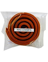 お香/うずまき香 Nag Champa ナグチャンパ 直径5cm×5巻セット [並行輸入品]
