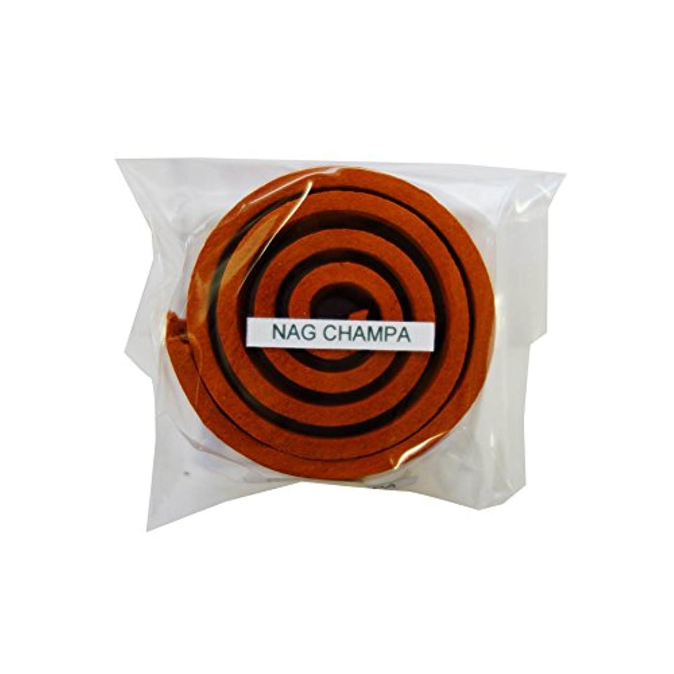 コテージ撤回する暖炉お香/うずまき香 Nag Champa ナグチャンパ 直径5cm×5巻セット [並行輸入品]