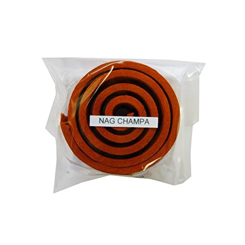 製作暴力的なあごお香/うずまき香 Nag Champa ナグチャンパ 直径5cm×5巻セット [並行輸入品]