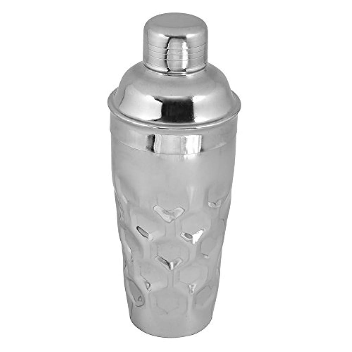 例示する正義ホームレス(750ml Octagonal) - Kosma Stainless Steel Designer Cocktail Shaker Mocktail Shaker - (Hammered finish) - 750 ml