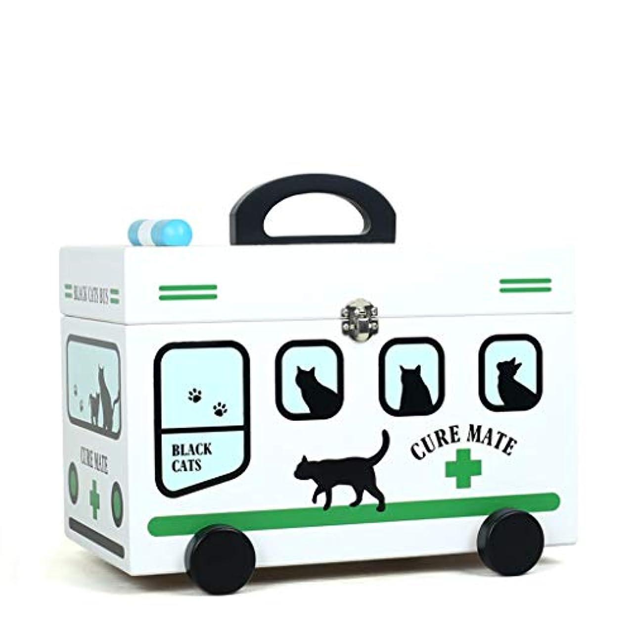 四面体アラブサラボ海洋のGLJJQMY 家庭用薬箱赤ちゃん子供薬収納ボックス救急箱医療箱家族小さな薬箱木材32×18×16センチ 薬収納ボックス