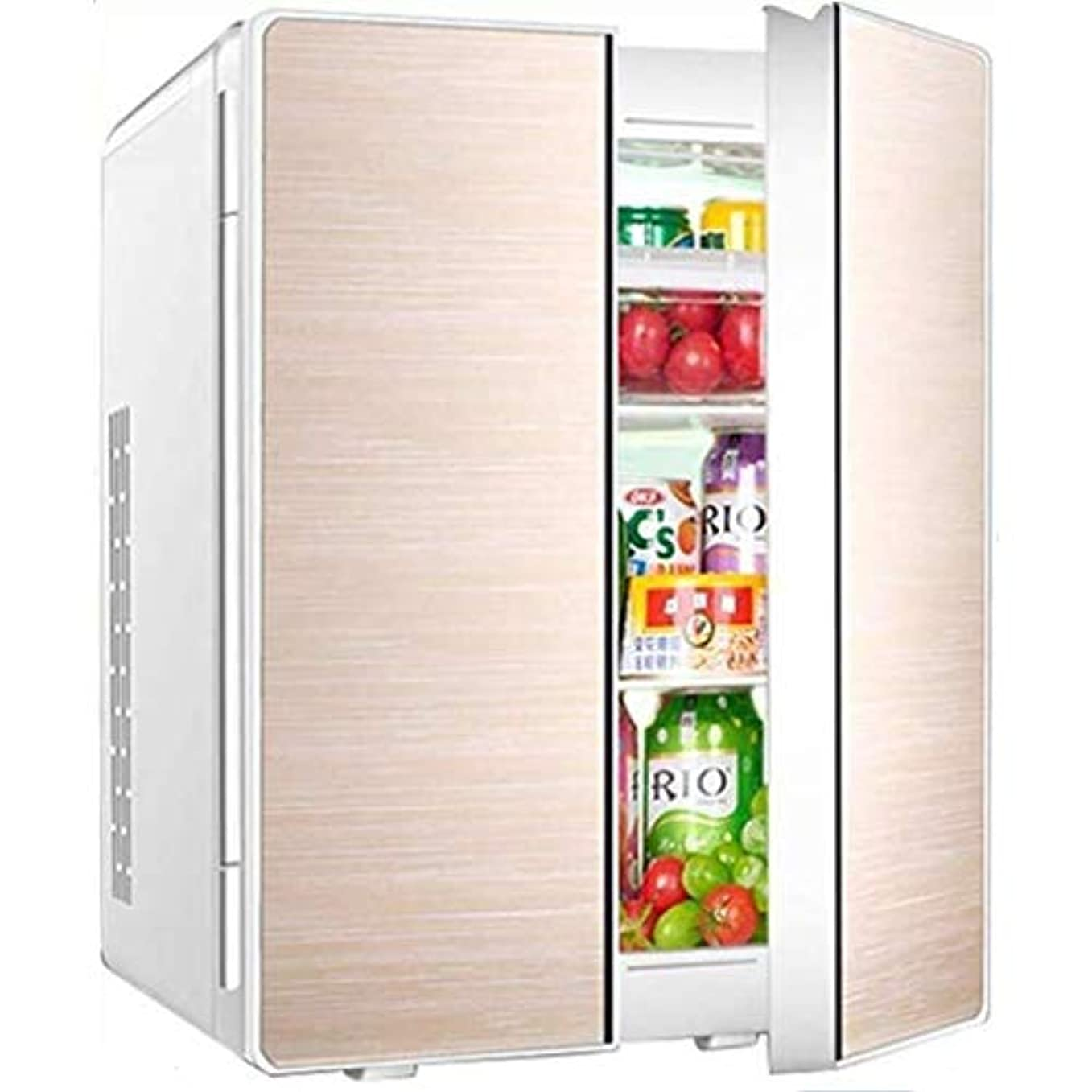 種をまくに対して証言するデュアルコア冷凍、ホームドミトリー静かなデスクトップミニバー25Lミニカー冷蔵庫ダブルドアデザインカーホームデュアルユースミニ冷蔵庫(色:A)