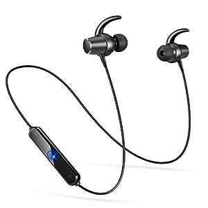 Semiro Bluetooth イヤホン 高音質 ワイヤレスイヤホン IPx5防水 ヘッドセット 両耳 スポーツ マグネット ON/OFF搭載 人間工学 内蔵マイク ハンズフリー通話 ブルートゥース ヘッドホン iPhone Android 対応 (ブラック)