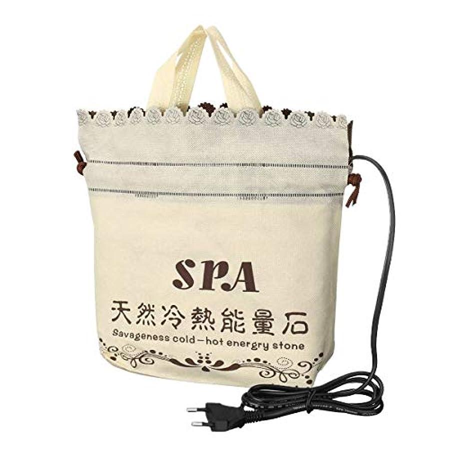 無駄にグッゲンハイム美術館絶えずPlug Heater Bag Spa Stones Warmer Bag for Massage Stones Massage Salon SPA Lava Natural Energy Massage Stone