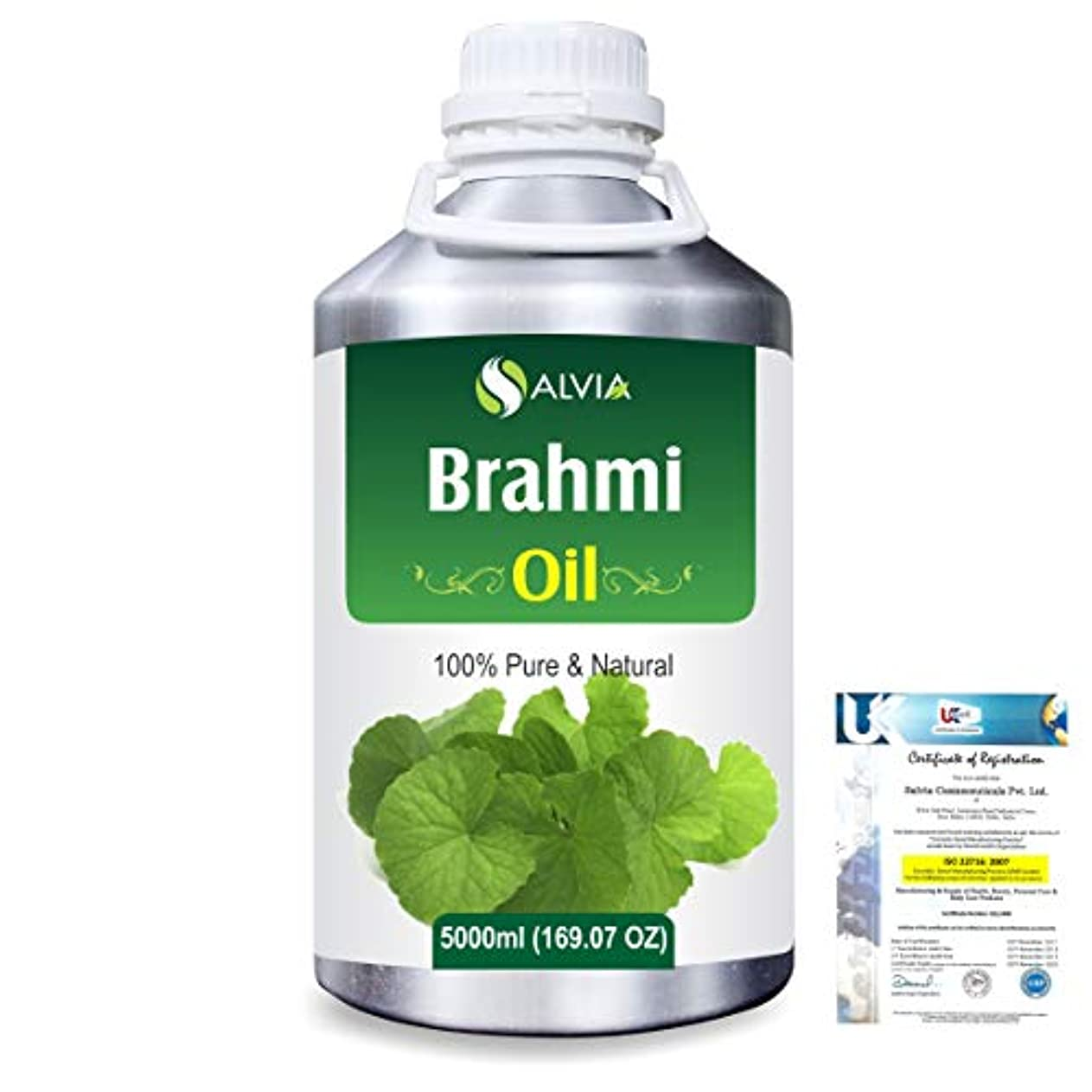 端意志お茶Brahmi (bacopa monniera) 100% Natural Pure Oil 5000ml/169fl.oz.
