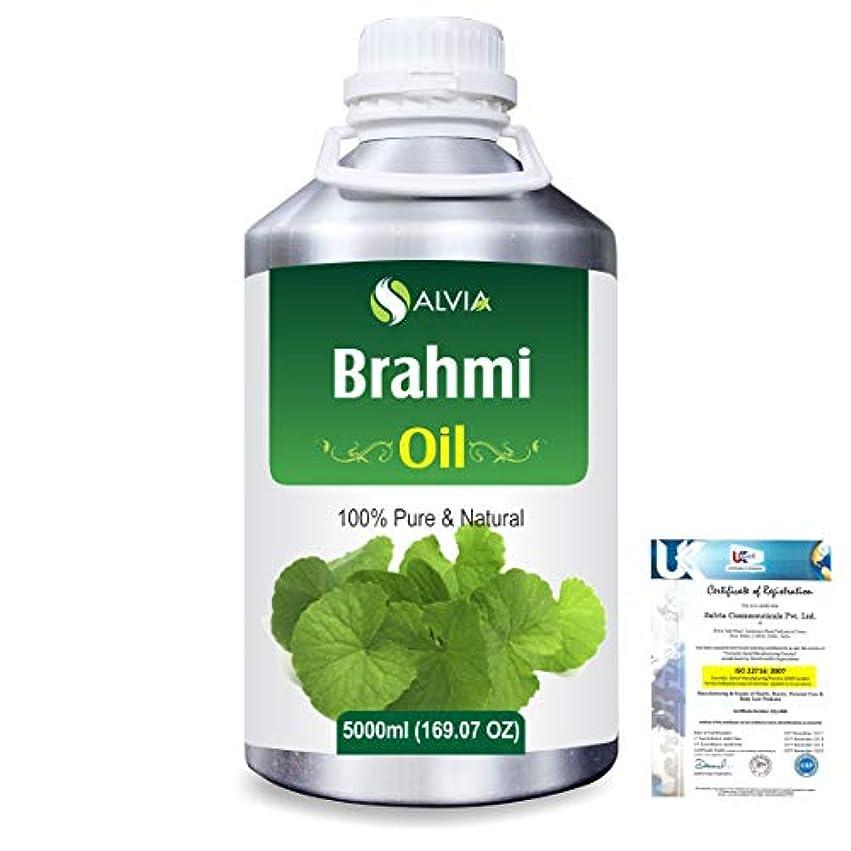 また見せます重要Brahmi (bacopa monniera) 100% Natural Pure Oil 5000ml/169fl.oz.
