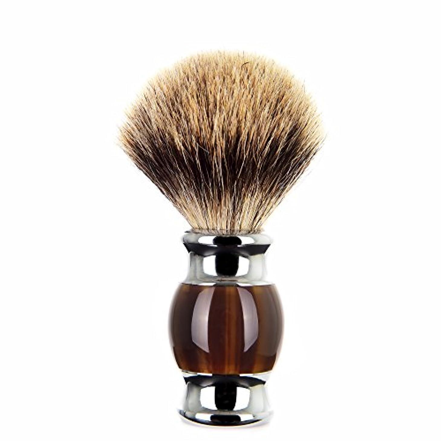 コンテンポラリー類似性類似性Edow シェービングブラシ高級silvertipアナグマ シェービング 任意 方法 用 重い合金基材と人間工学的ハンドル 備えたブラシ毛。