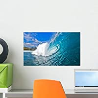 Perfect Wave Wall Mural by Wallmonkeys Peel and Stick Graphic (18 in W x 11 in H) WM96505 [並行輸入品]