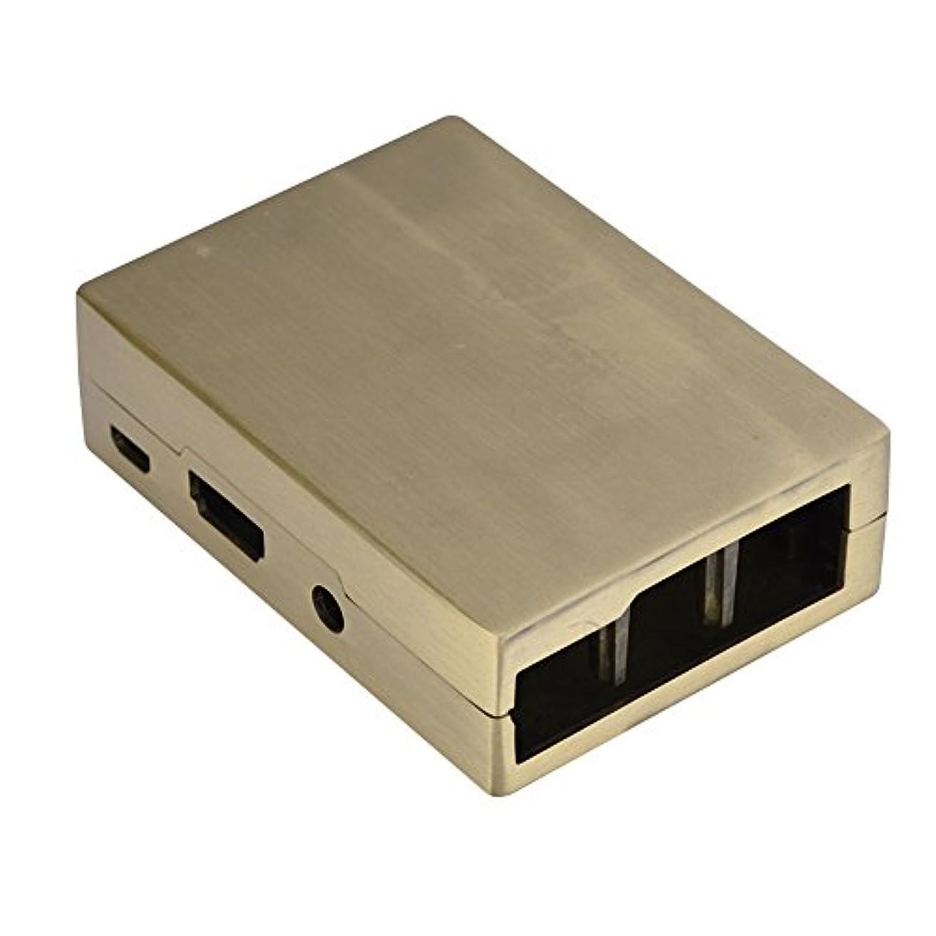 噴水心配船酔いVBESTLIFE ラズベリーパイ用ケース 高耐久 ABSプラスチック製エンクロージャ保護ケース Raspberry Pi 3/2 Model B and B+保護ケース(ゴールド)