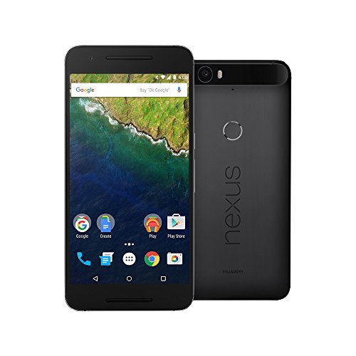 Huawei Google Nexus 6P 64GB 5.7-Inch Reversible USB Type-C 4G LTE Factory Unlocked (GRAPHITE) - International Stock No Warranty by Huawei