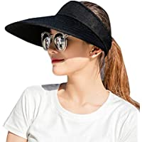 CAMOLAND Sun Visor Hats Women 5.5'' Large Brim Summer UV Protection Beach Cap
