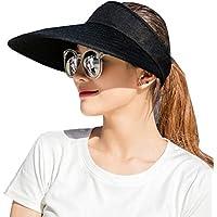 CAMOLAND Sun Visor Hats Women 5.5'' Large Brim Summer UV Protection Beach Cap