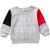 Toddler Infant Baby Boy Clothes Big Brother Long Sleeve Deer Sweatshirt Top