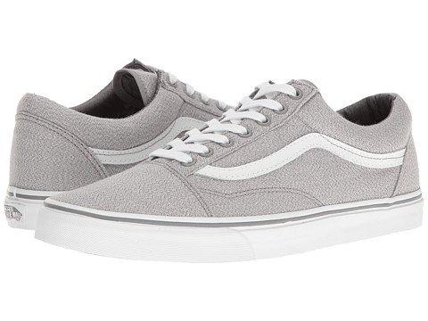 (バンズ)VANS メンズスニーカー・靴 Old Skool (Suiting) Frost Gray/True White 23.5cm (レディース 24cm) Medium [並行輸入品]
