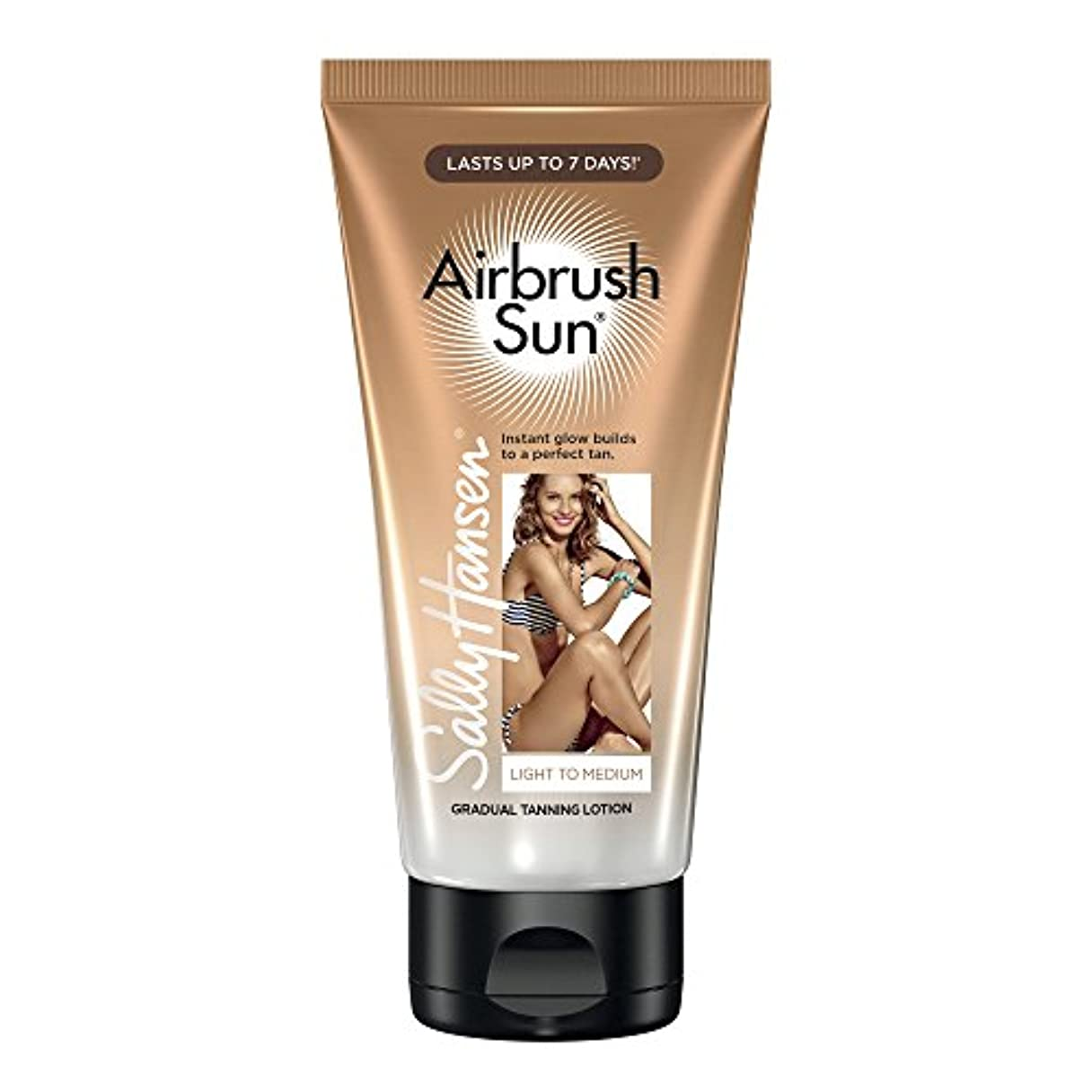 細い麻酔薬納税者SALLY HANSEN Airbrush Sun Tanning Lotion - Light To Medium (並行輸入品)