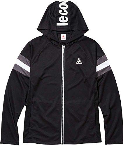 lecoq sportif(ルコック)メンズ シャツジャケット ジップパーカー UPF50+ クーリング 吸汗速乾 QMMLJC62 BLKBLK O