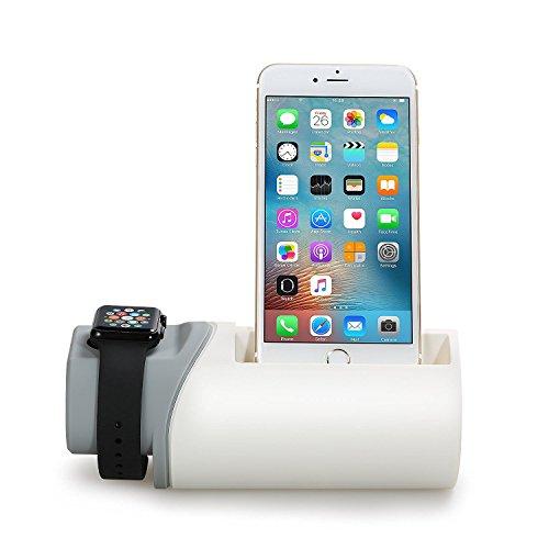 lvshan Apple watch充電器(W01)、Apple watch充電スタンド、充電器、充電スタンド、2in1充電スタンド、iPhone7/SE/ 6s / 6s plus / 6 / 6 plus / 5s / 5c / 5 充電器、両用充電器、環状充電スタンド