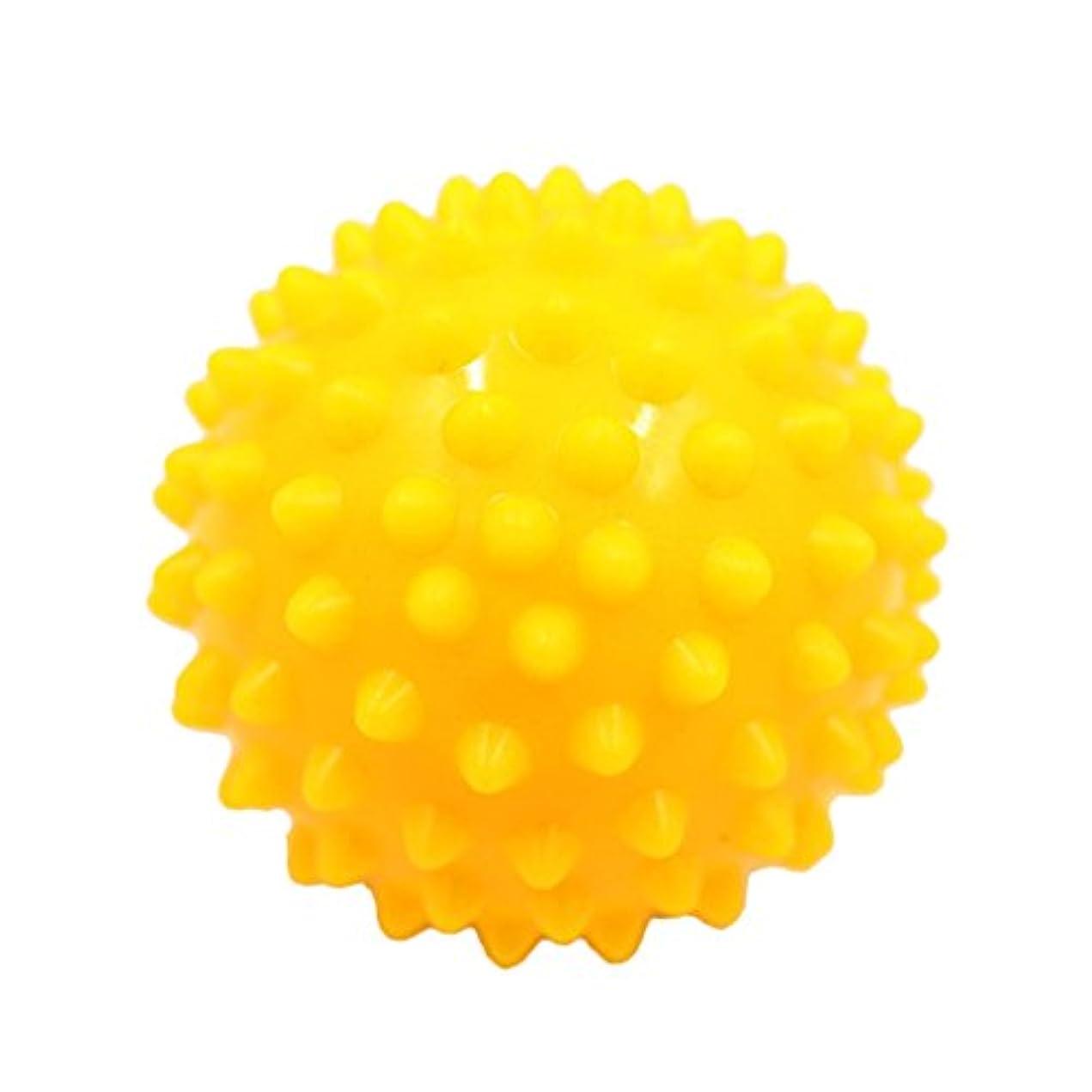神聖ペルー蜂マッサージボール マッサージ器 ボディ スパイク マッサージ 刺激ボール 3色選べ - 黄, 説明したように