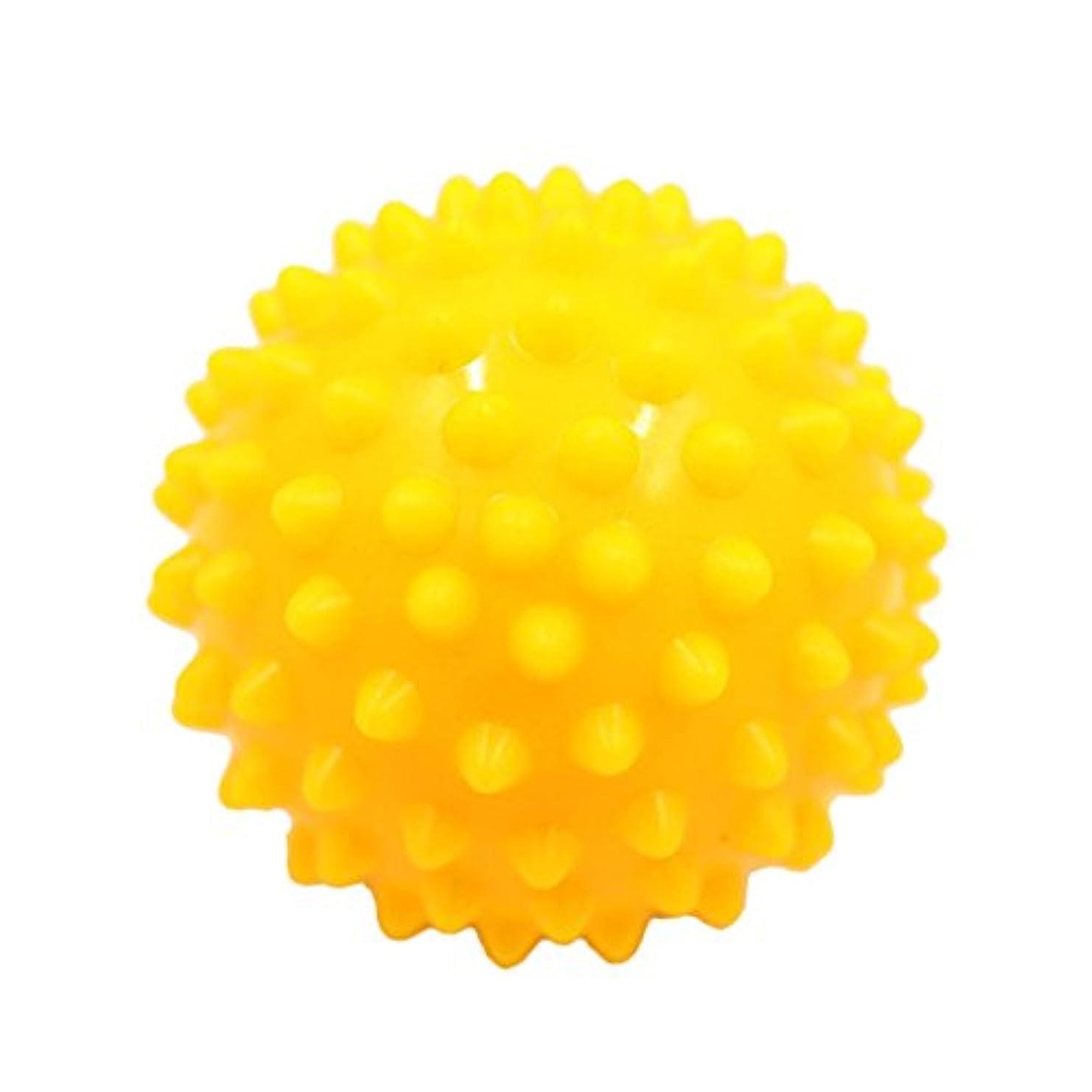 母音理論最適マッサージボール マッサージ器 ボディ スパイク マッサージ 刺激ボール 3色選べ - 黄, 説明したように