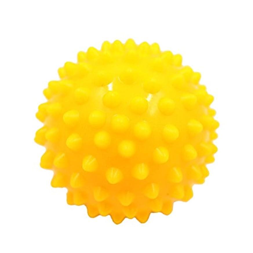 果てしない発掘するロゴBaosity マッサージボール マッサージ器 ボディ  スパイク マッサージ 刺激ボール 3色選べ - 黄
