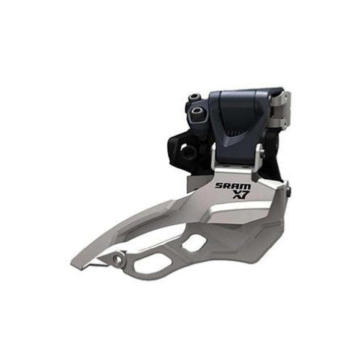 頑丈岩火曜日SRAM X.7 Der Avt High Clamp Dual Pull Triple (Design: 34,9 mm) Dérailleur avant VTT