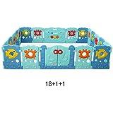 XIAOMEI 赤ちゃんフェンス子供のゲームクロールマット幼児フェンスセーフティフェンス赤ちゃんホーム屋内フェンスサイズオプション ベッドの手すり (サイズ さいず : 18+1+1) フェンス Mei