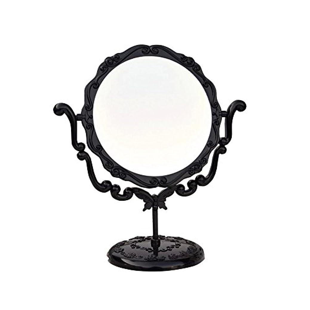 食堂以下犠牲JTWJ アナスイスタイルのデスクトップミラーレトロな化粧鏡美容ミラー特大の回転ミラー