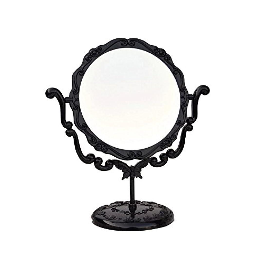 JTWJ アナスイスタイルのデスクトップミラーレトロな化粧鏡美容ミラー特大の回転ミラー