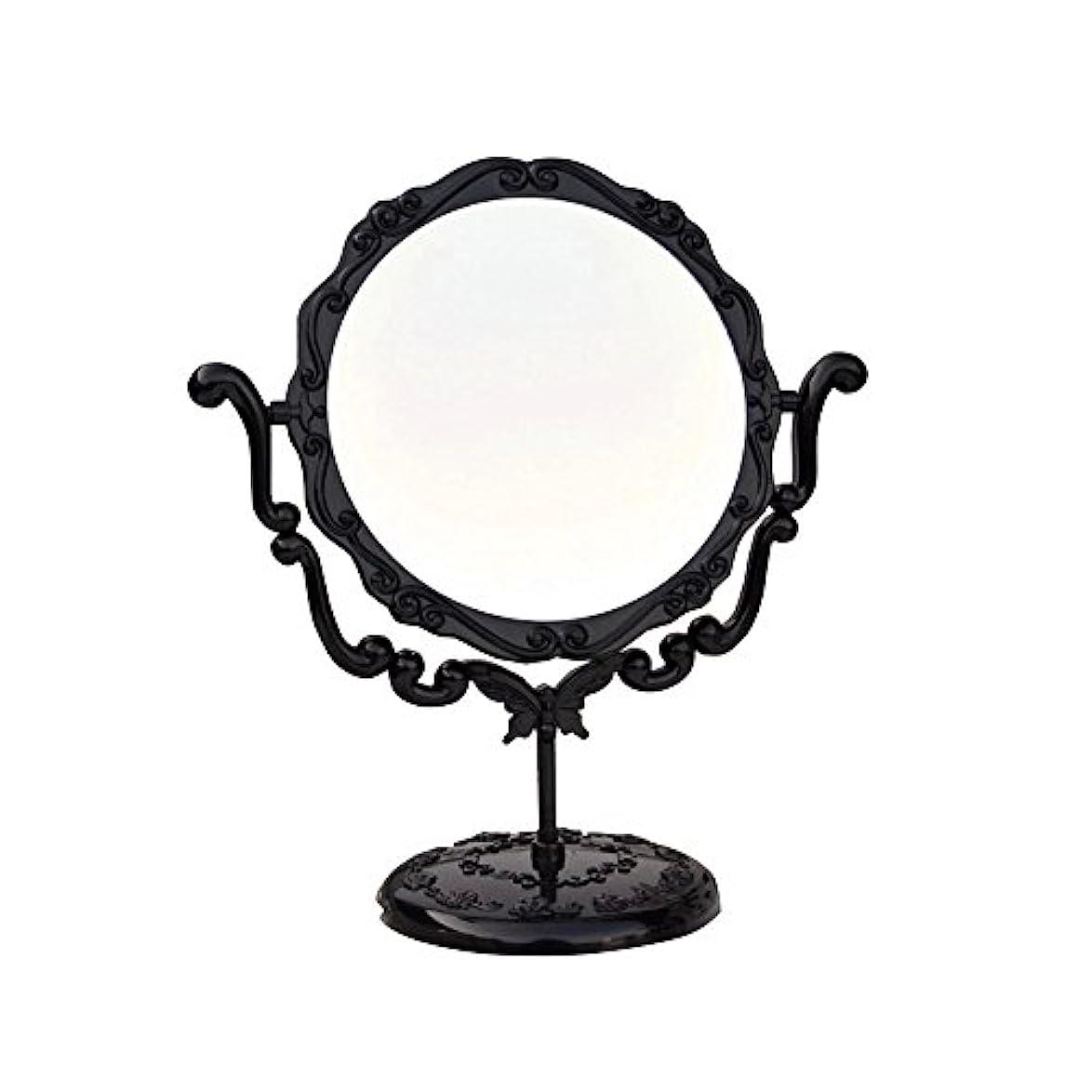 笑いアンデス山脈告白するJTWJ アナスイスタイルのデスクトップミラーレトロな化粧鏡美容ミラー特大の回転ミラー