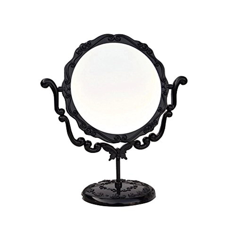 教科書鎮静剤親JTWJ アナスイスタイルのデスクトップミラーレトロな化粧鏡美容ミラー特大の回転ミラー