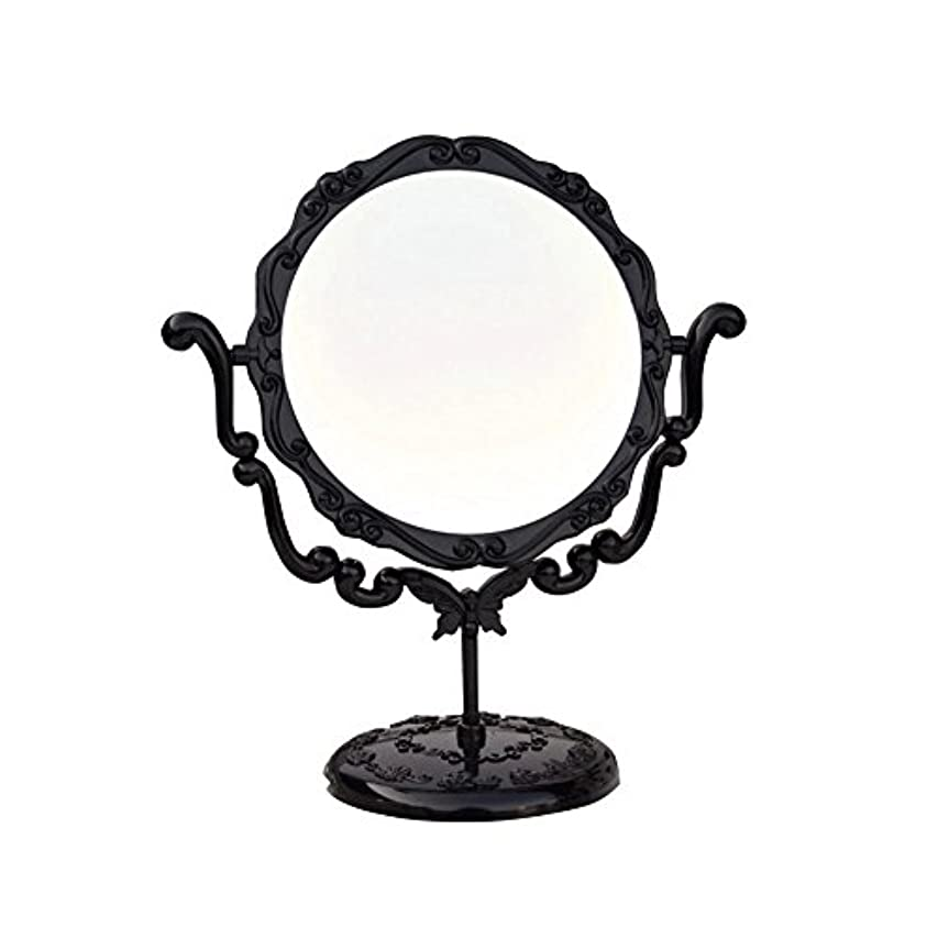 無法者動的いろいろJTWJ アナスイスタイルのデスクトップミラーレトロな化粧鏡美容ミラー特大の回転ミラー