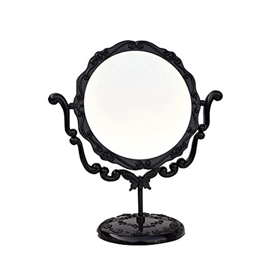 円形の屋内力強いJTWJ アナスイスタイルのデスクトップミラーレトロな化粧鏡美容ミラー特大の回転ミラー