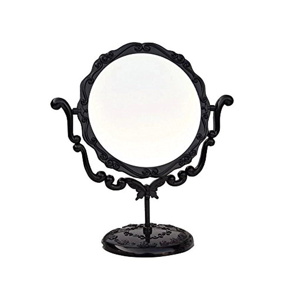 飾り羽前者大学生JTWJ アナスイスタイルのデスクトップミラーレトロな化粧鏡美容ミラー特大の回転ミラー