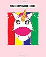 Unicorn Notebook: unicorn colorful happy magical  College Ruled - 50 sheets, 100 pages - 8 x 10 inches
