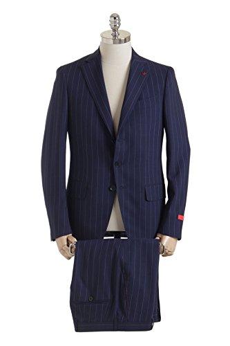 ISAIA イザイア GREGORY スーツ 234AJI-007 ネイビー ピンストライプ セットアップ 130'sウール