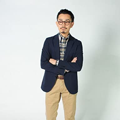 Seersucker 3-button Jacket 114211: Navy