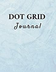 Dot Grid Journal: Abstract, blue colored cover, 121 pages, large (8.5 x 11 in), paperback