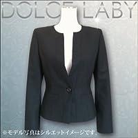 (ドルチェルビ) DOLCE LABY レディース スーツ ノーカラージャケット 生地:5.Dグレーストライプ(M27209/TK) 05号(SS)着丈50 袖丈56 半胴33.5 裏地:エンジ(61)