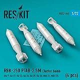 レスキット 1/72 現用ロシア軍 RBK-250 PTAB-2.5M クラスター爆弾 4個入り プラモデル用パーツ RSK72-0141