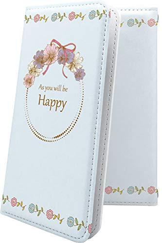 AQUOS CRYSTAL X 手帳型ケース クリスマス 花 花柄 フラワー アクオスクリスタル 手...