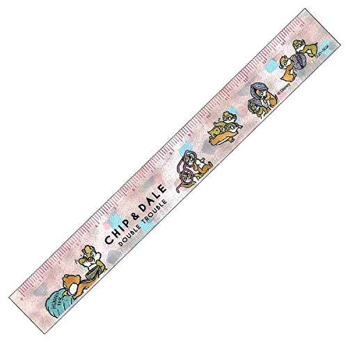 サンスター文具 ディズニーチップ&デール 15cm定規 ピンク ハニー&ナッツ