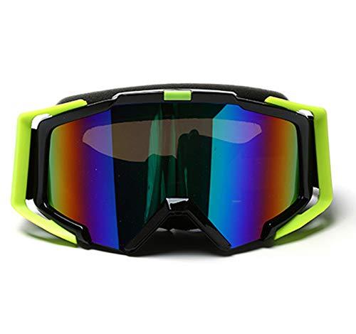 (フェイスコジー) Facecozy メンズ スノボートゴーグル スノーボード 防風/防雪/防塵 曇り止め 通気 180°広視野 スキーゴーグル メガネ対応 耐衝撃 アウトドア サバゲー 冬用 バイク用 登山 (ブラック)