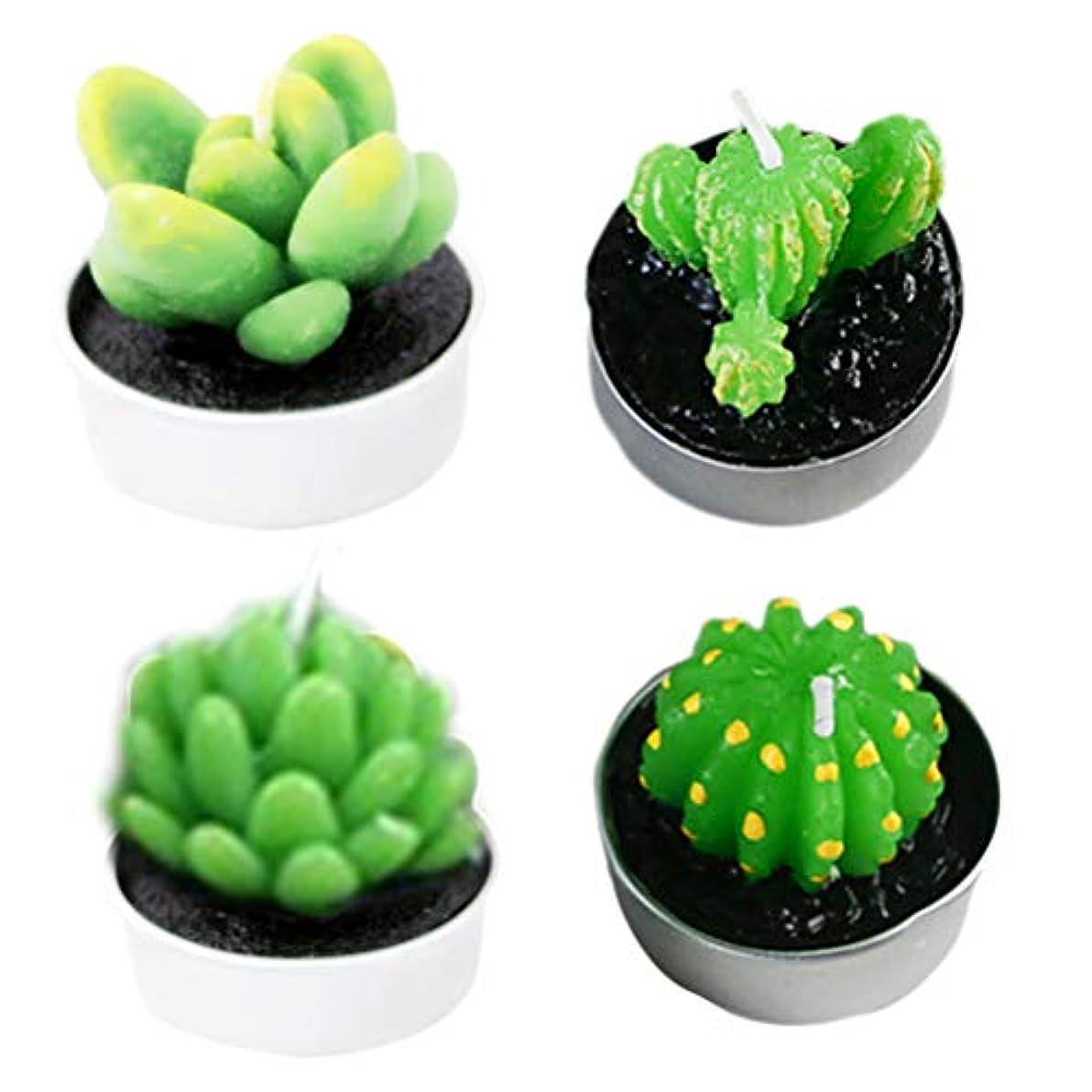 BESTOYARD 6本スパイシーなサボテンキャンドルミニ装飾植物の形のキャンドルスパのホームクリスマスウェディングパーティデコレーションギフト(ランダムスタイル)