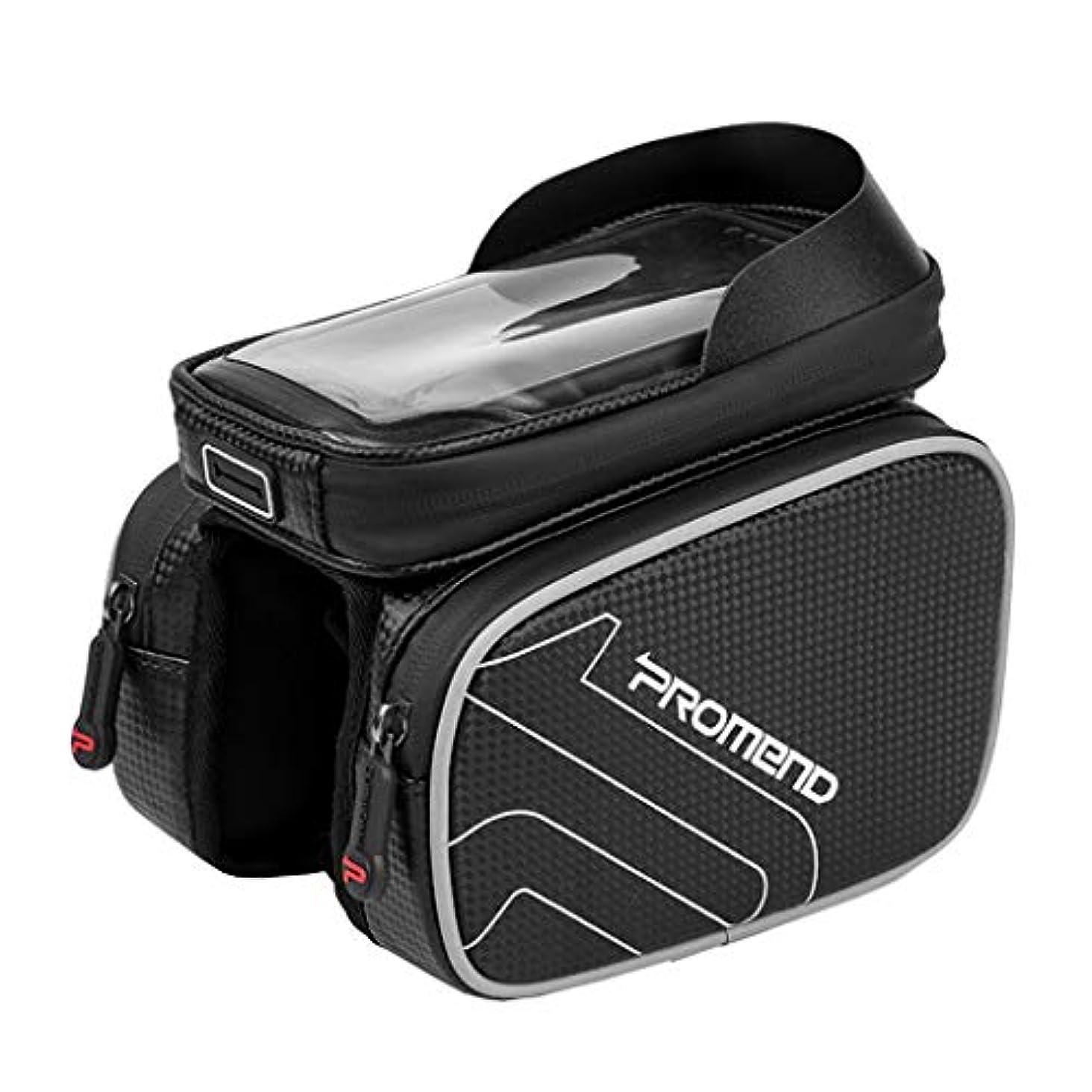酸度六月起きるSweelive 自転車フレームバッグ トップチューブバッグ タッチスクリーン携帯電話バッグ スマホバッグ 防水 大容量 サイクリングポーチ 6.2インチ以下対応 サイクリング 収納