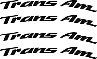 Pontiac Firebird Trans AmホイールデカールCurved 4 x .4 レッド tanwheel2