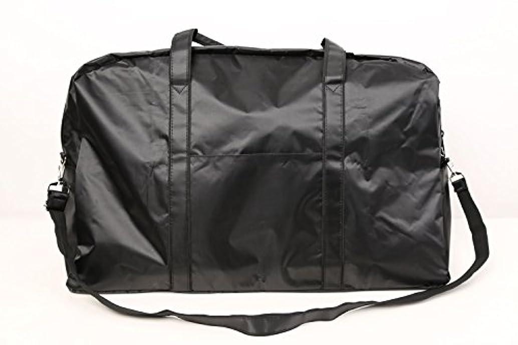 コミットメント金銭的な事実カットウィッグ用バッグ 大容量 軽量 ナイロンバッグ ブラック XRDB-1