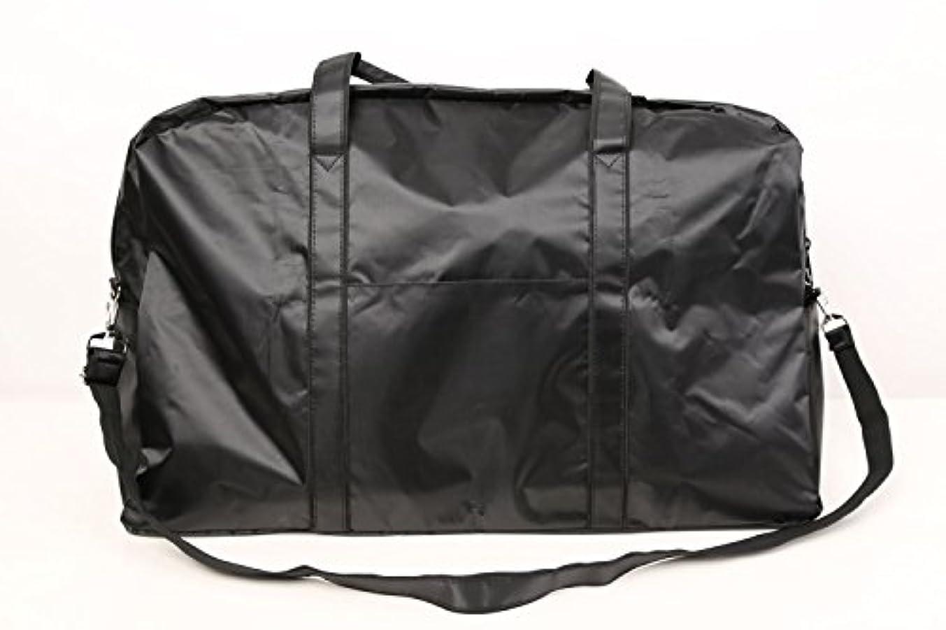 カポック打ち負かすマイクロプロセッサカットウィッグ用バッグ 大容量 軽量 ナイロンバッグ ブラック XRDB-1