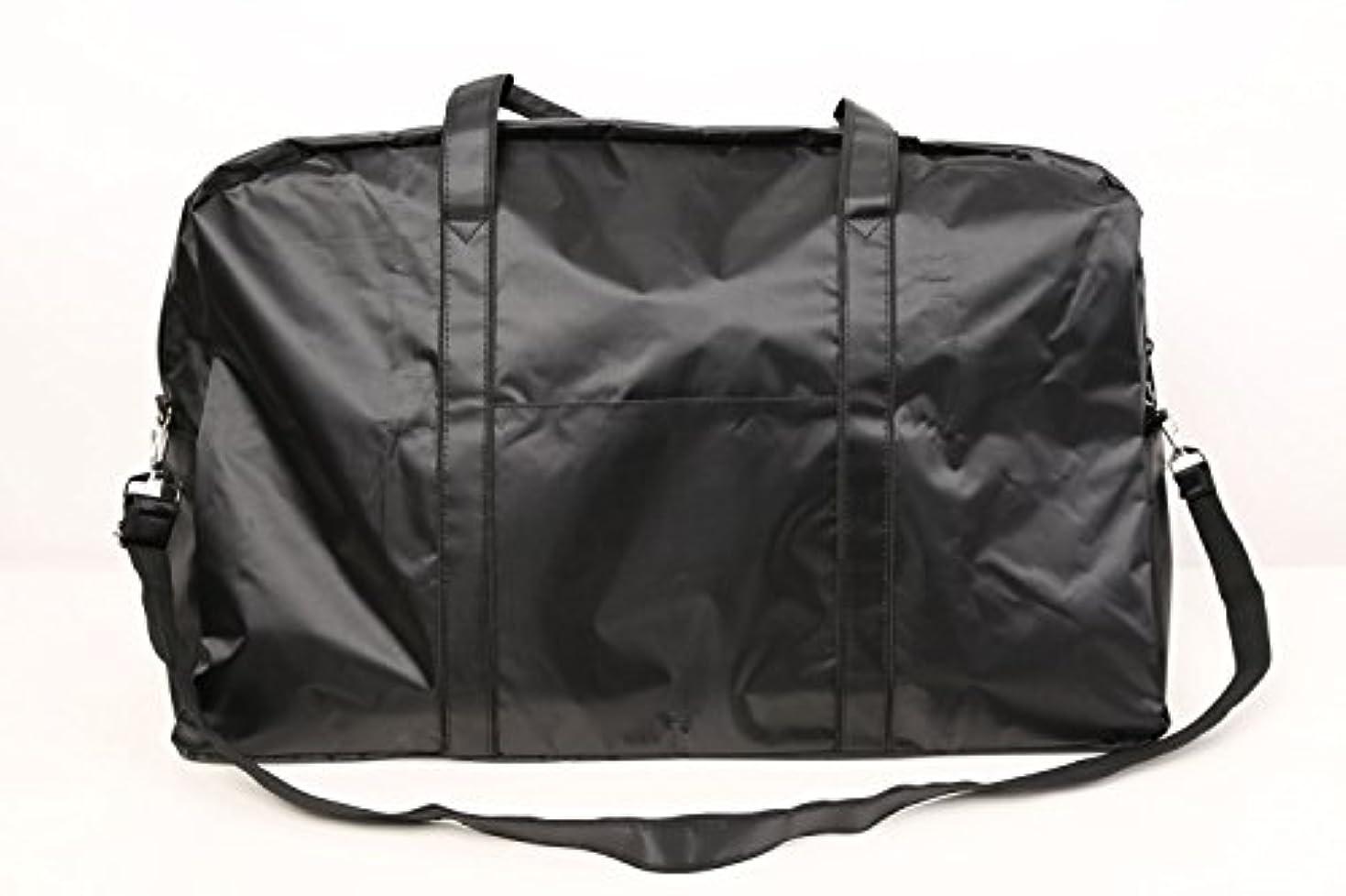 カットウィッグ用バッグ 大容量 軽量 ナイロンバッグ ブラック XRDB-1