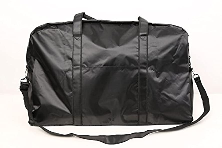 エスニック警告する本当にカットウィッグ用バッグ 大容量 軽量 ナイロンバッグ ブラック XRDB-1
