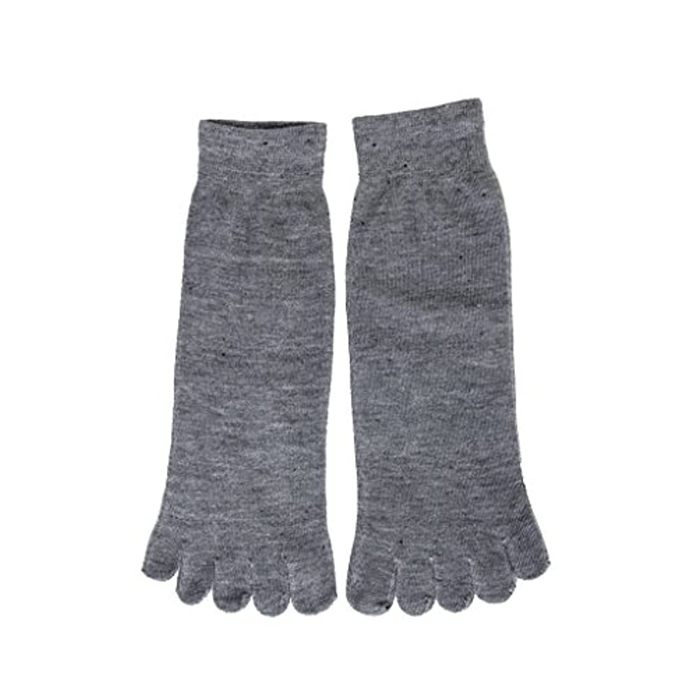 クールオーディションシーン【Footful】ソックス 靴下 くつ下 五本指ソックス サポートソックス 全4色 (ライトグレー)